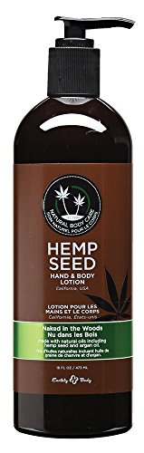Hemp Oil Lotion (Earthly Body: Non-Greasy, Ultra-Moisturizing, Nutrient-Rich Hemp Seed Hand & Body Lotion, Naked In The Woods, 16 oz.)