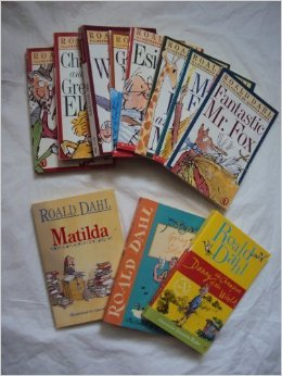 Dahl Books (12): Esio Trot; Charlie and the Chocolate Factory, Fantastic Mr. Fox, Matilda; the Magic Finger;going Solo, the Witches;the Giraffe, Pelly and Me; George's Marvelous Medicine; Danny Champion of the World (The Magical World of Dahl)