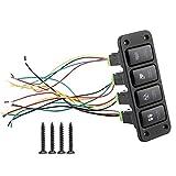 Suuonee Panel Switch, 4 Switch Panel Driving Light Blu-ray Switch Push Button for Toyota Hailax Cool Road VIGO