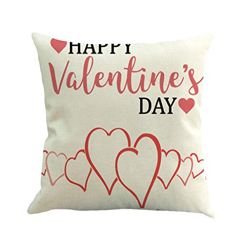 "Mome  Wall Stickers Decoration  Happy Valentine's Day Letter Decor Print Square Cushion Cover for Baby Supersoft Party~ Handmade Decorative Pillowcase, Multicolor, 18""x18""(45cm) (D) from MOME~Home Decorations"