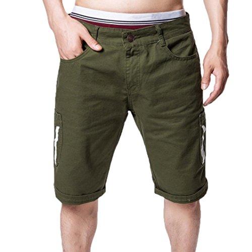 - iZHH Men's Casual Cargo Straight Pocket Shorts Blue Jeans