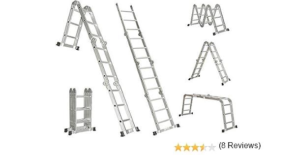 ESCALERA/ DE MANO/ANDAMIO/ MULTIPROPÓSITO DE ALUMINIO DE 4, 7 METROS: Amazon.es: Bricolaje y herramientas