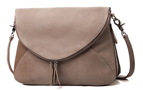 Body Cross Purses (AMELIE GALANTI Crossbody Bags for Women with Flap Top Zippered Shoulder Bags Multi)