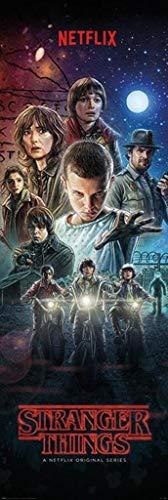 (Pyramid International Stranger Things Full Cast Season 1 One Sheet Giant Door Poster 21x62 Inch)