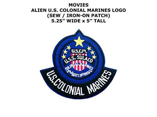 Colonial Assassin Costume (U.S. Colonial Marines Alien Movie DIY Embroidered Sew or Iron-on Applique Patch Outlander Gear)