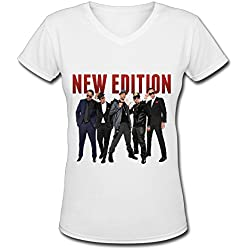 R&B Urban Soul New Edition Tour 2016 V Neck T Shirt For Women