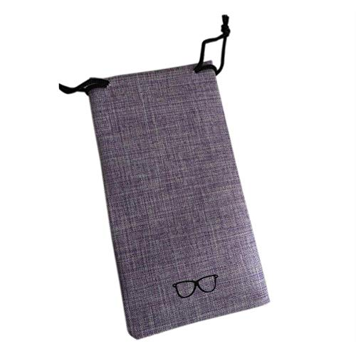 Elec tech Eyeglass case Linen Art Fresh Retro Glasses Bag Eyeglass case for Glasses with Small or Medium Frames