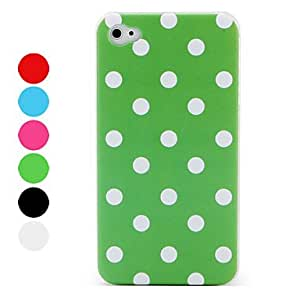 Protective Dots Style Hard Case for iPhone 4 and 4S (Assorted Colors) , White