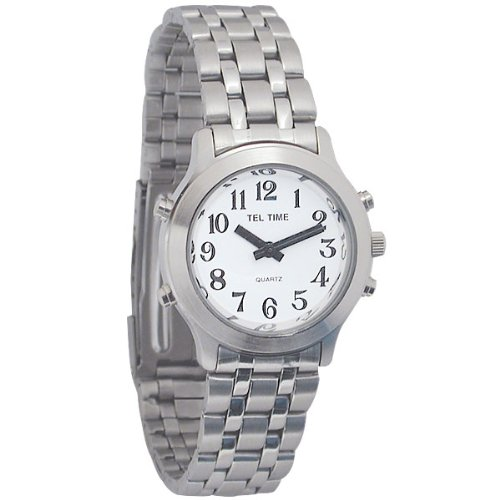 Ladies Classic Tel-Time Chrome Talking Watch - Chrome