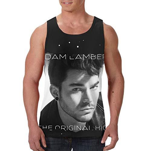 AvisN Men's Adam Lambert The Original High Training Waistcoat Tank Top T-Shirt S Black -