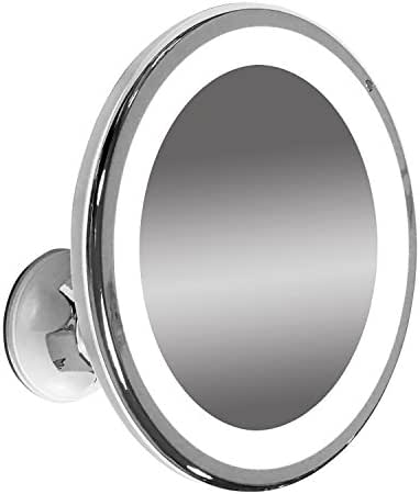 "LED Illuminated Adjustable 6"" Wide Makeup Mirror (7x Magnification)"