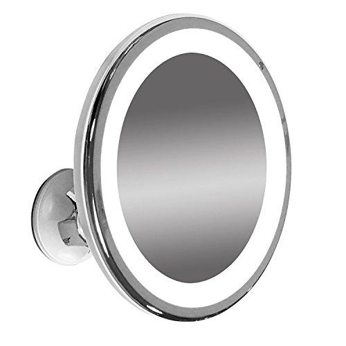 LED Illuminated Adjustable 6 Wide Makeup Mirror 7x Magnification