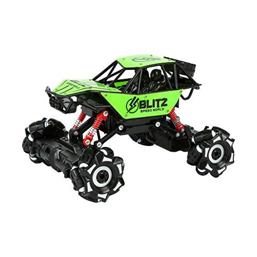 HHoo88 1/18 Stunt Drift Crawler RC Cars 4 CH 4 WD 2.4G Remote Control Bubble Dance Off-Road Toys Gift All Terrains Remote Climbing Stunt Car Children's Drift Toys RTR Toys (Green) from HHoo88