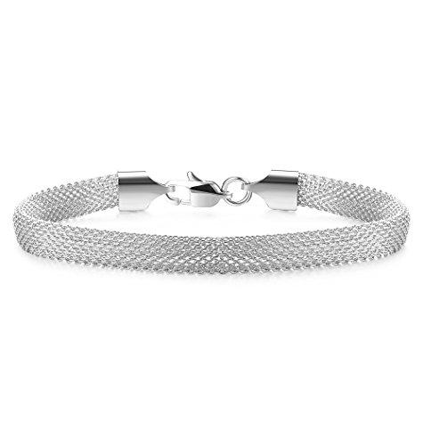Jstyle Mesh Bracelet Stainless Steel chain Link Bracelets for Women Girls 7