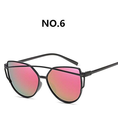 diseñador de nuevas retro sol Gafas sol C8 de gafas gafas de C6 2018 del de ZHANGYUSEN moda Pop colorido Mujeres de marca moda EwOq7pv
