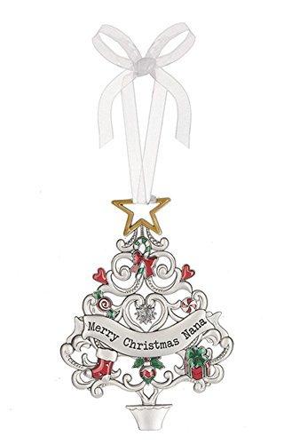 Merry Christmas Nana Decorated Christmas Tree Sentiment Ornament