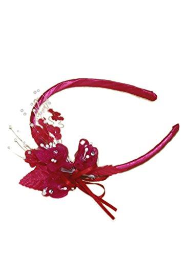 Gewächshaus Kopf-Zeremonie mit Blume Pink - Rose fushia