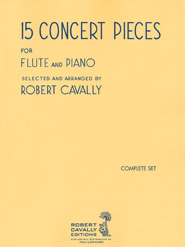 15 Concert Pieces: Flute and Piano (2-book set) ()