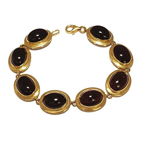 Clearance Bracelet Femme en Or 18 carats Jaune avec Pierres Dures, Cm 17, 31 Grammes