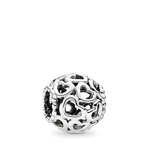 (PANDORA Open Your Heart Charm, Sterling Silver, One Size)