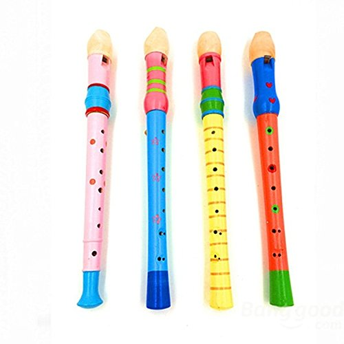 Saver Portable Baby Child Kid Long Wooden Flute Whistle Musical