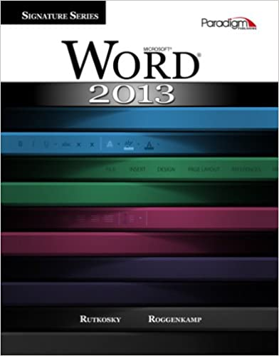 Word 2013 Text with data files CD Microsoft R Signature Series