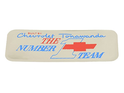 1967-1970 Corvette Tonawada #1 Team Big Block Valve Cover Engine Code Decal
