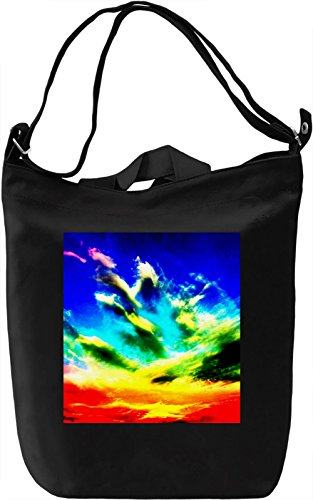 Colorful Sky Pattern Borsa Giornaliera Canvas Canvas Day Bag| 100% Premium Cotton Canvas| DTG Printing|