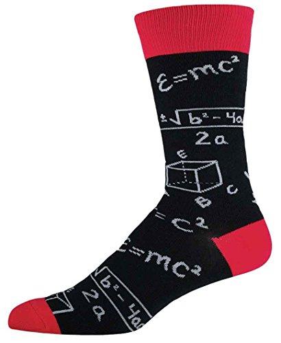 "Socksmith Mens' Novelty Crew Socks ""Math"" - Black from Socksmith"