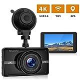 TOGUARD 4K UHD Dash Cam Built-in GPS WiFi Car Camera 3'' LCD 170°
