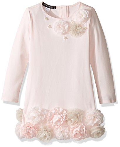 Biscotti Big Girls Cozy Couture Long Sleeve Dress With Flower Hem, Pink, 10 by Biscotti