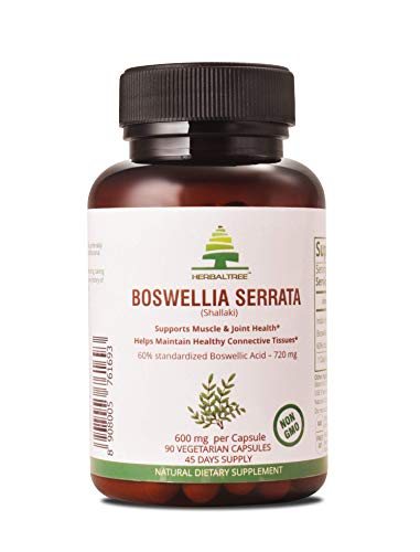 Premium Boswellia Serrata 90 Veg Capsules|1200 mg with 60% Boswellic Acid 720 mg |Natural Ayurvedic Supplement (Indian Frankincense) for Inflammation| Joint Pain Discomfort & Mobility*