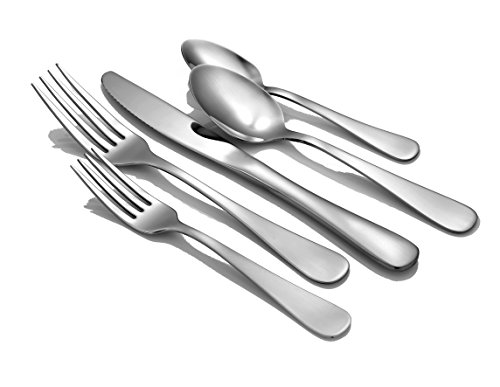 Liberty Tabletop Satin Annapolis 45 Piece Flatware set for 8 Made in (Satin Salad Serving Spoon)
