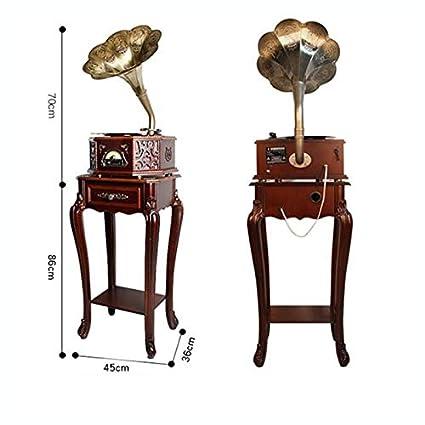SMLCTY Retro gramófono, Antiguo salón Europeo y Big Altavoz del ...