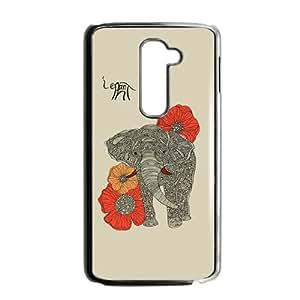 ORIGINE Beautiful flowers elephant Cell Phone Case for LG G2