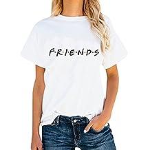 ALPUSA Teen Girl Funny Friends Print Graphic T-Shirt Women Cute Cotton Tops