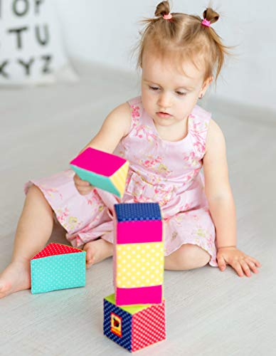 Soft infant toys 6m baby toys Rattle toy baby educational toys 3+ months Soft toys MACIK baby Soft Blocks for kids baby Stacking toys baby Development toys fine motor skills toys Soft Cubes
