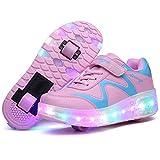 ROKIDS - Zapatillas con luz LED y Carga USB para niños y niñas