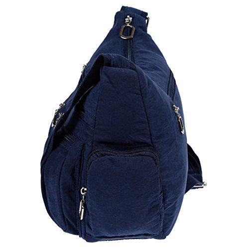 Christian Wippermann® - Bolso al hombro para mujer gris gris claro 31x24x11 cm azul