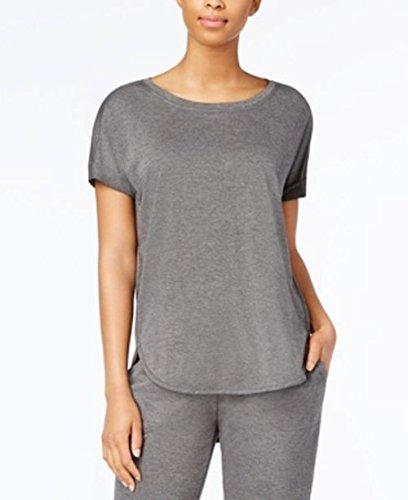 Alfani Scoop-Neck Pajama Top Dark Gray S