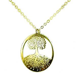 Tree of Life Design Gold Plated Pendant with Chain