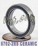 15x21x4 sealed bearing - 6702-2RS Ceramic Sealed Bearing 15x21x4 Ball Bearings