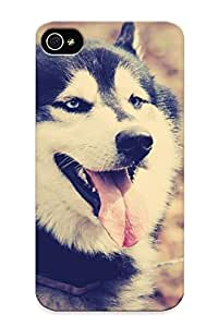 Premium Durable Animals Dogs Husky Fashion Tpu Iphone 4/4s Protective Case Cover