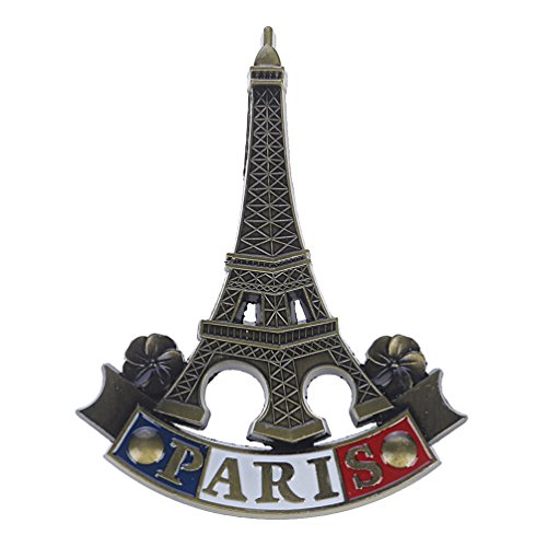 Towashine France Eiffel Tower 3D Metal Fridge Magnet Paris Travel Souvenir Home Decor