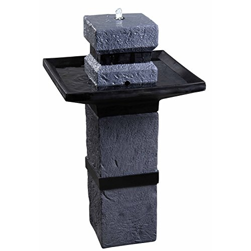 Monolith Water (Kenroy Home 50028DST Monolith Outdoor Solar Fountain, Dark Stone Finish)