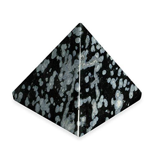 CrystalAge Snowflake Obsidian Pyramid