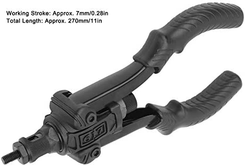 Rivet Gun Hand Thrust Rivet Nut Gun Metric Manual Riveter Riveting Rivnut Tool Rivet Nut Setter Kit with M3 M4 M5 M6 M8 M10 Ti