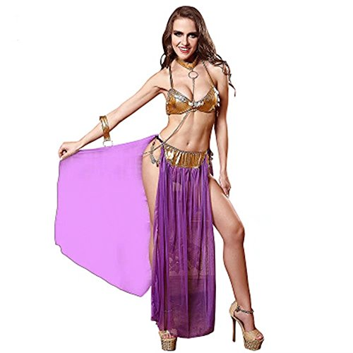 Jhion Women's Sexy Club Wear Costume Cosplay Dancing Dress Princess Leia Slave Miss Manners Uniform Average Size - Princess Leia Bikini Costumes