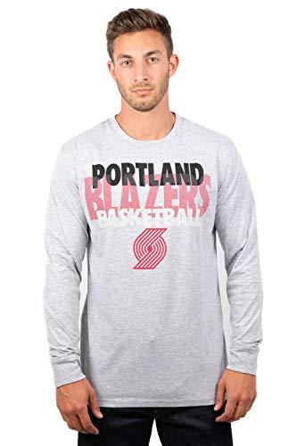 Ultra Game NBA Portland Trail Blazers Men's Supreme Long Sleeve Pullover Tee Shirt, X-Large, Gray