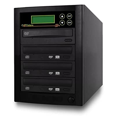 Copystars Dvd Duplicator 24X CD-DVD-Burner 1 to 3 Copier Sata Drive Dual Layer Writer SmartPro DVD Duplicator Tower SYS-1-3-ASUS/LG-CST from Copystars